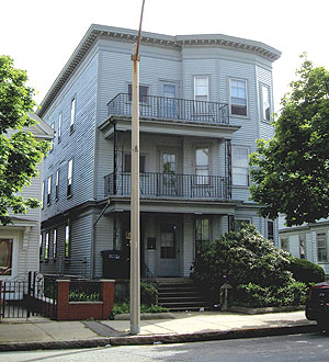 A typical three-decker off Highland Ave. ~Photo by Amanda Rhodes