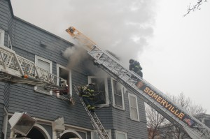 Fire at 82 Heath Street, Somerville. ~Photos by Somerville Fire Department