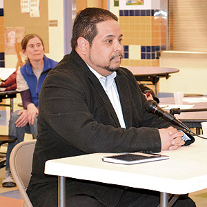 Benjamin Echevarria is the new School Committee member representing Ward 1.~Photo by Harry Kane