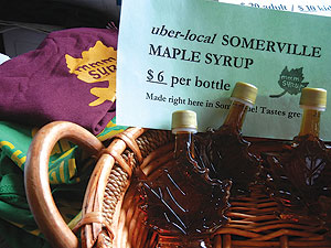 The Maple Syrup Boil-Down Festival will occur on March 9 at the Somerville Community Growing Center. Somerville maple syrup in maple leaf bottles will be for sale at various venues throughout the city.