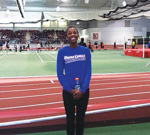 Somerville High grad and UMass Lowell junior Antoinette Toussaint.