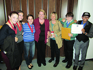 Kennedy School students and teachers have much to celebrate after the great showing made at the Massachusetts National History Day competition. ~Photo by Ellen Conte