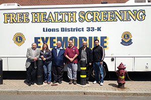 Pictured here (L to R): Somerville and Cambridge Lions Gene Brune, Ann Sabbey, Michael Daoud, Valdo Meneses, Billy Tauro and Marco Mariano. ~Photo by Diana Gilman