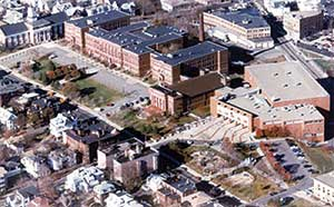 1987 aerial photo courtesy of David Durnan, Class of 1966.
