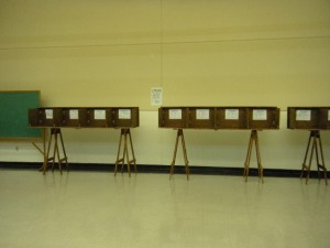 Empty polling place Tueday afternoon. Don't forget to vote today!