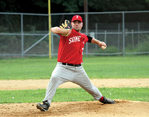 The Somerville Alibrandis hold first place standing in the Yawkey league 9 games into the season.