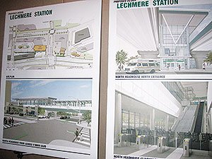 The public got a detailed look at the proposed new Lechmere Green Line station at an informational meeting held last week in Cambridge. ~Photo by Douglas Yu
