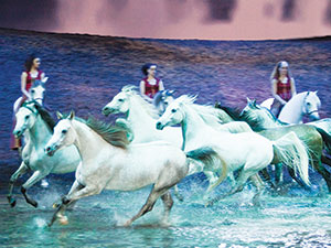 Cavalia's 'Odysseo' will continue its run at Assembly Row through September 1. ~Photo by François Bergeron
