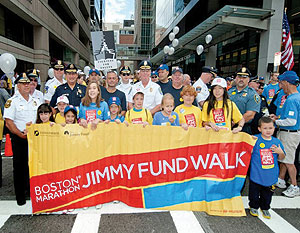 The Jimmy Fund Walk raises money for Boston's Dana-Farber Cancer Institute, helping patients in their battles with cancer and funding research to improve their chances of winning the fight.