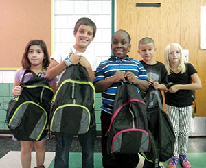 Arthur D. Headley School students were delighted to receive their free backpacks laden with school supplies and plenty of surprises last Friday.