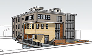 The proposed residential building at 97 Prospect St.